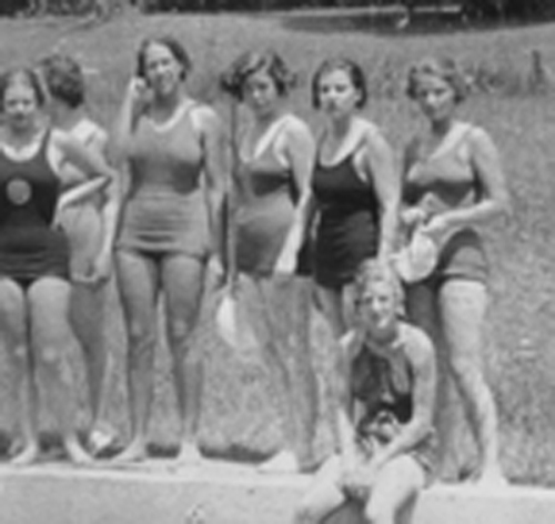 ROKEBY SWIMMERS closeup 1938