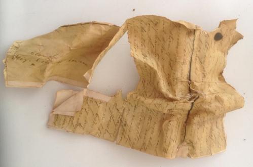 disintegrated letter